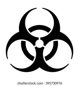 International bio hazard symbol , bio hazard vector sign isolated , vector illustration