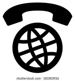 International calls worldwide vector icon