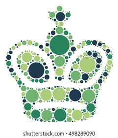 International chess shape vector design by color point