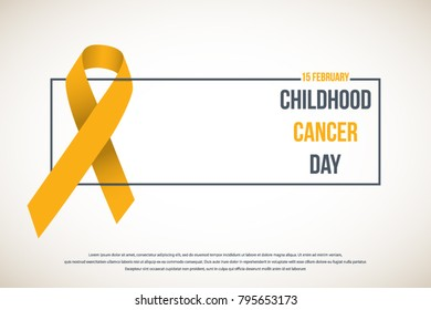 International Childhood Cancer Day, vector design element.