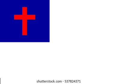 International Christian Flag Vector