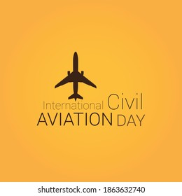 International Civil Aviation Day, 7 December. Patriotic element. Poster, greeting card, banner and background. Vector Illustration