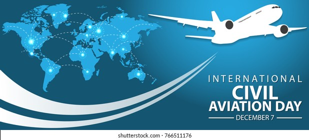 International Civil Aviation Day Background