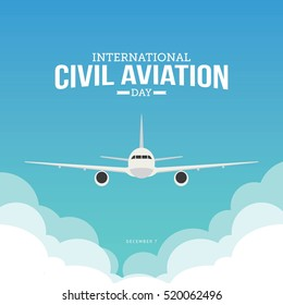 International Civil aviation day. Vector Illustration
