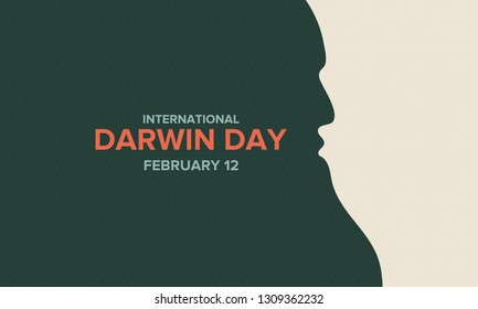 International Darwin Day. The celebration of the birthday of the scientist Charles Darwin. International Day of Science and Humanism. Poster, banner, and background