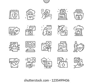 International Data Protection Day Well-crafted Pixel Perfect Vector Thin Line Icons 30 2x Grid for Web Graphics and Apps. Simple Minimal Pictogram