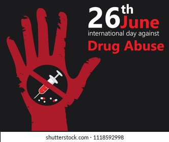 international day against drug abuse banner vector