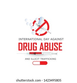 International day against  drug abuse and illicit trafficking banner