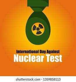 International Day Against Nuclear Test Illustration
