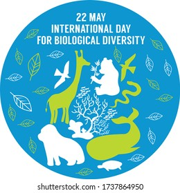 international day for biological diversity 22 mei vector illustration