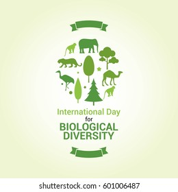 International Day for Biological Diversity Vector Illustration. Suitable for Greeting Card, Poster and Banner.