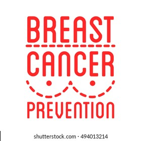 International Day of Breast Cancer Awareness. Vector ribbon and badge. Symbol of hope, charity and support. Design elements. Vector illustration isolated on white background.