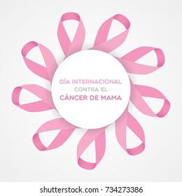 International Day of Breast Cancer in Spanish. Dia internacional contra el cancer de mama