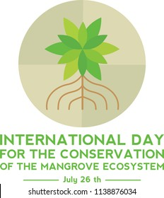 International Day For The Conservation of the Mangrove Ecosystem Logo Vector Template