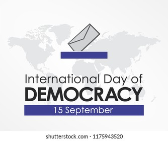 International Day of Democracy Design Template Vector. Suitable for Greeting Card, Poster and Banner World with nice and creative design illustration beautiful world vote concept