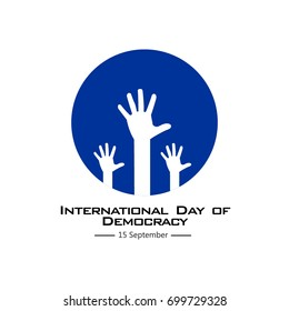 International Day of Democracy Vector Template Design