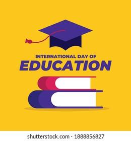 International Day of Education vector Illustration