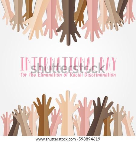 international day elimination racial discrimination 21 のベクター