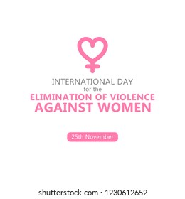 International Day for the Elimination of Violence Against Women. Stop violence against women concept. 25 November. Vector illustration. Logo.