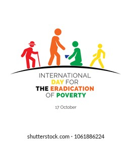 International Day for the Eradication of Poverty, Abstract white and black vector