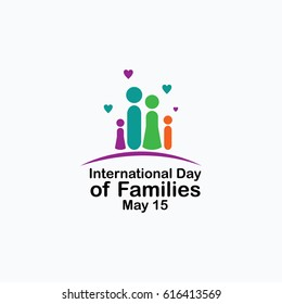 International Day of Families Logo Vector Template