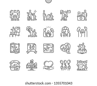 International Day of Families Well-crafted Pixel Perfect Vector Thin Line Icons 30 2x Grid for Web Graphics and Apps. Simple Minimal Pictogram