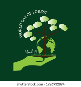 international day of forest concept. illustration vector