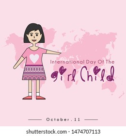 International Day of the Girl Child with The Girl Child cartoon and
