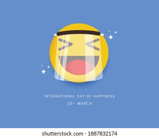 International day of happiness design template.