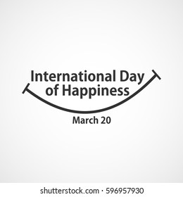 International Day Of Happiness Logo Vector Template