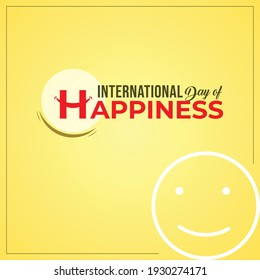International Day of Happiness. typography design