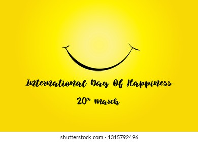 International Day Of Happiness Vector Design