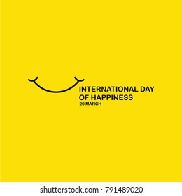 International Day of Happiness Vector Template Design