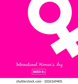 International Women´s Day, March 8th, Banner