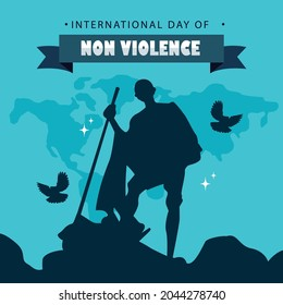 International day of Non Violence concept background