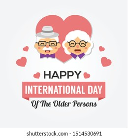 International Day of The Older Person. Vector Design Template