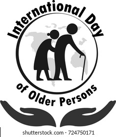 International Day of Older Persons ,October 1 logo vector illustration