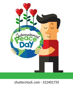 International day of peace. Doodle vector illustration