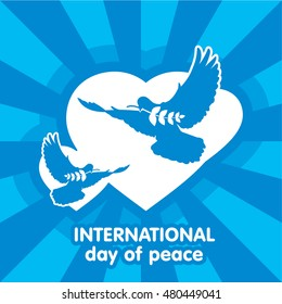 The international day of peace, symbols.