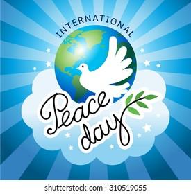 International day of peace.Vector illustration