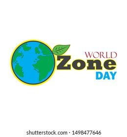 International Day for the Preservation of the Ozone layer. World or international ozone day vector design for poster, meme, greeting, background, banner, brochure, wallpaper or sticker design