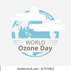 International Day for the Preservation of the Ozone Layer illustration, vector