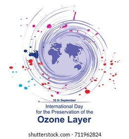 International Day for the Preservation of the Ozone Layer Logo Vector Template Design