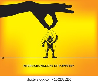 International Day of Puppetry - Poster calendar event of March of the international level