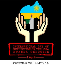 international day of reflection on the 1994 rwanda genocide, vector