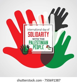International day of solidarity with the palestinian people, Vector Illustration.