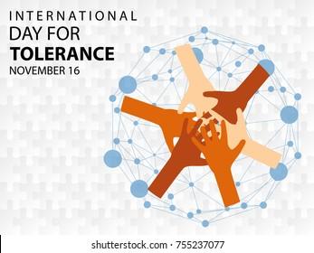 International Day for Tolerance background