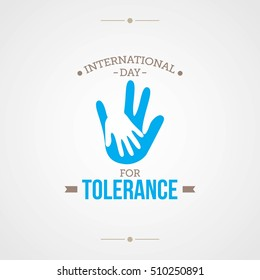 International Day for Tolerance Vector Illustration.