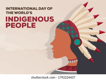 International Day of the World's Indigenous People vector