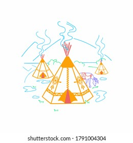 International Day of the World's Indigenous Peoples - 9 August. Designed for background, banner, wallpaper, etc. Suitable for your business
